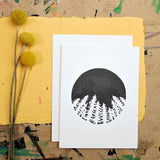 California Scenery Cards in Black
