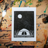 "Camping Under the Stars | 5x7"" Print"