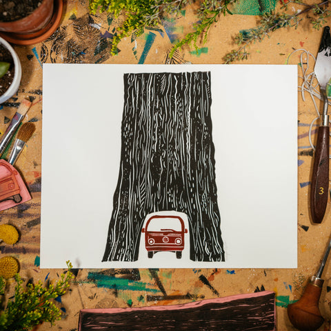 "Tunnel Tree | 8x10"" Print"
