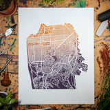 "Streets of San Francisco | 11x14"" Print in Plum-Peach"
