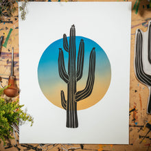 "Load image into Gallery viewer, Solo Saguaro | 11x14"" Print"