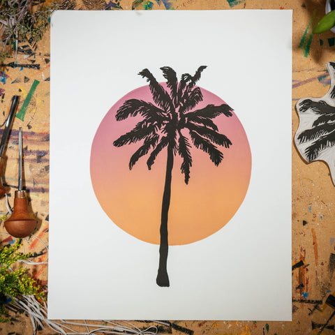"Sunset Palm | 11x14"" Print"