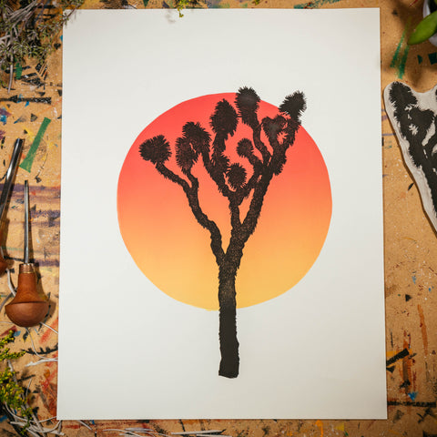 "Joshua Tree at Dusk | 11x14"" Print"