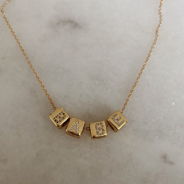 custom cube necklace - (MAY BE PRE ORDER** )
