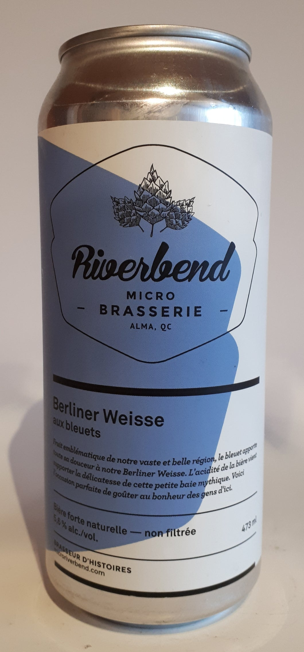 Microbrasserie Riverbend Berline Weisse Bleuet 473ml
