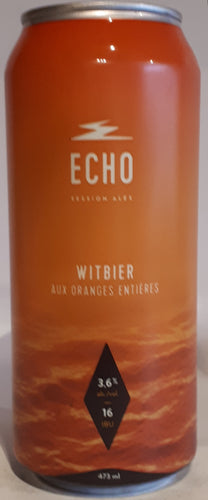 Echo Session Ale Witbier à l'Orange Entière 473ml