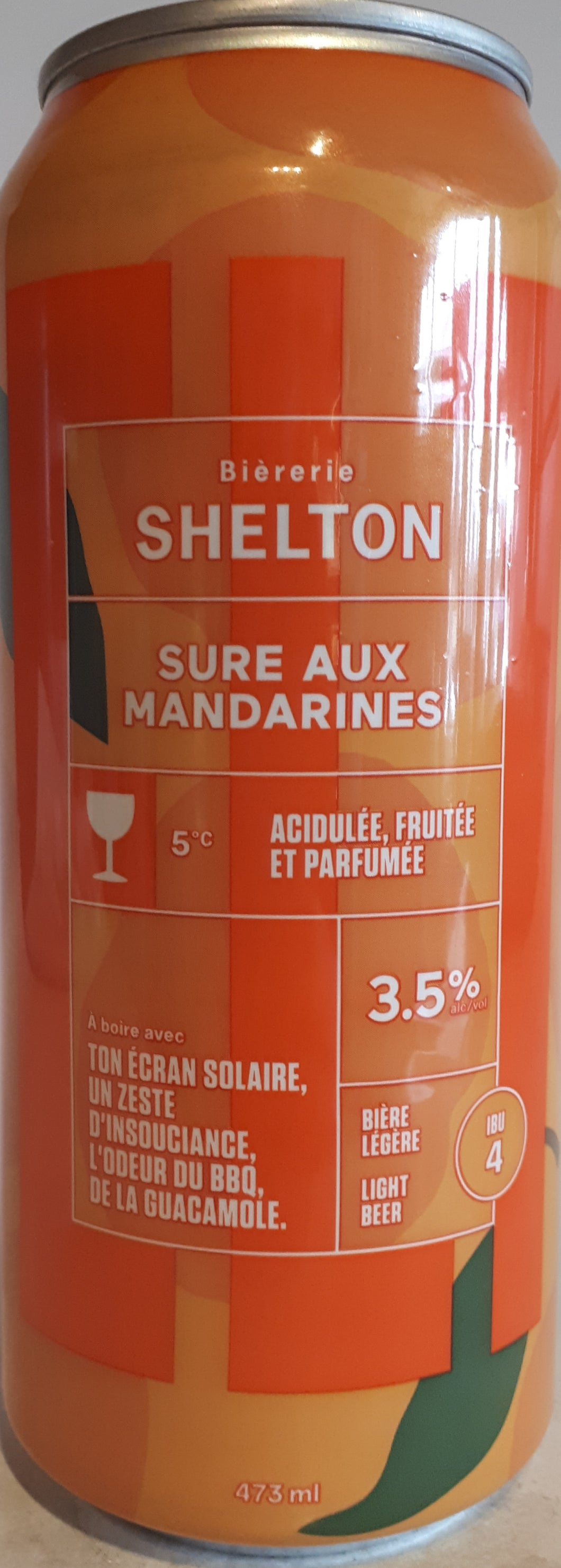 Brasserie Shelton Sure aux Tangerines 473ml