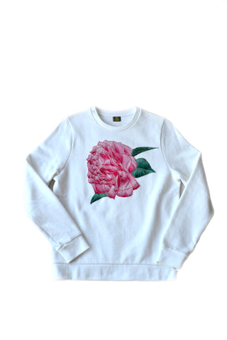 Independent fashion Camelia embroidered sweatshirt