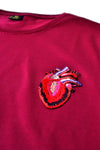 Independent fashion Heartbeat embroidered T-shirt