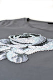 Independent fashion Pixel Rose embroidered T-shirt
