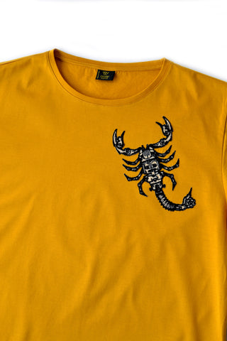 Independent fashion Scorpio embroidered T-shirt
