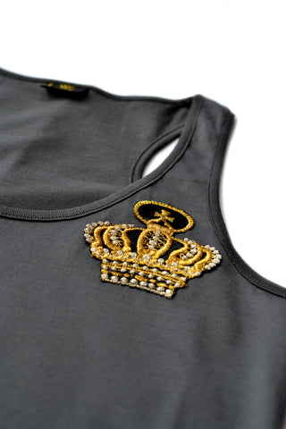 Independent fashion Schell embroidered Tank-Top