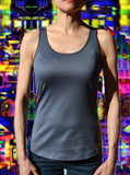 Independent fashion pima mercerized cotton Tank-Top