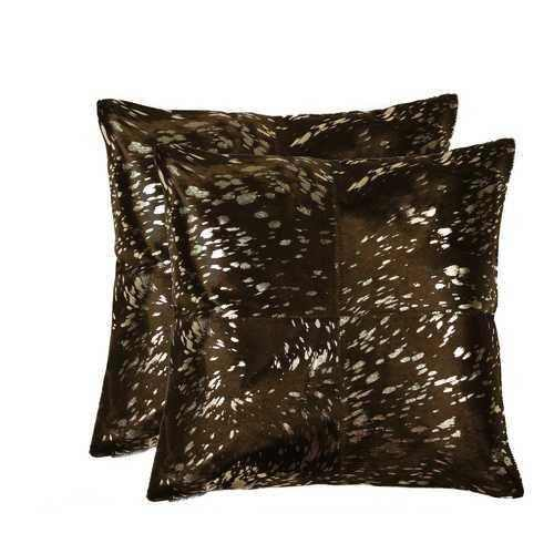 "18"" x 18"" x 5"" Gold And Chocolate, Quattro - Pillow 2-Pack - 100% Authentic Luxury Men's & Women's Fragrances, Cosmetics & Pillows"