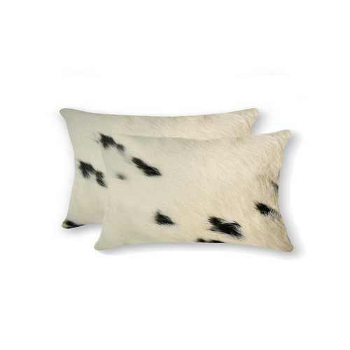 "12"" x 20"" x 5"" White And Black, Cowhide - Pillow 2-Pack - 100% Authentic Luxury Men's & Women's Fragrances, Cosmetics & Pillows"