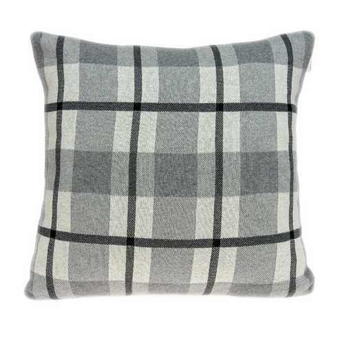 Square Gray and Blue Plaid Accent Pillow Cover - 100% Authentic Luxury Men's & Women's Fragrances, Cosmetics & Pillows