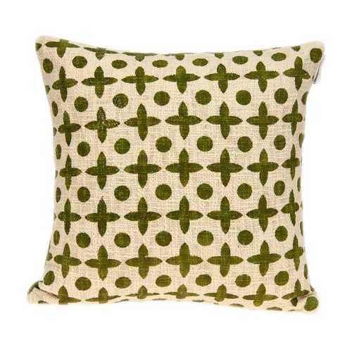 Geometric Design Beige and Green Printed Pillow Cover - 100% Authentic Luxury Men's & Women's Fragrances, Cosmetics & Pillows