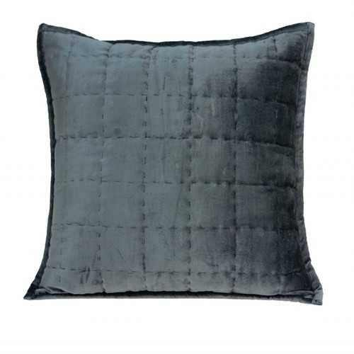 Super Soft Charcoal Solid Quilted Pillow Cover - 100% Authentic Luxury Men's & Women's Fragrances, Cosmetics & Pillows