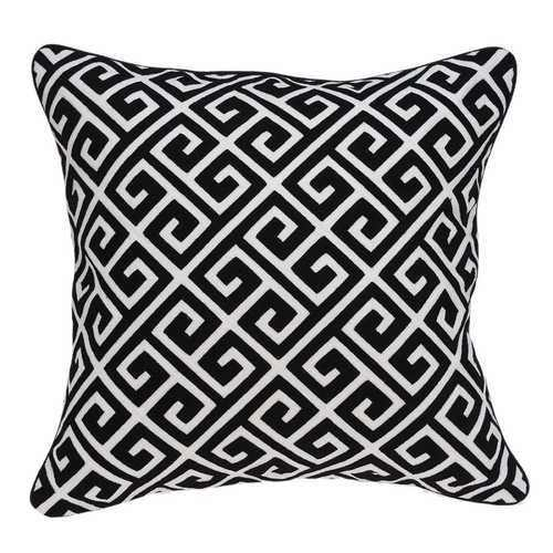 "20"" x 0.5"" x 20"" Transitional Black and White Pillow Cover - 100% Authentic Luxury Men's & Women's Fragrances, Cosmetics & Pillows"