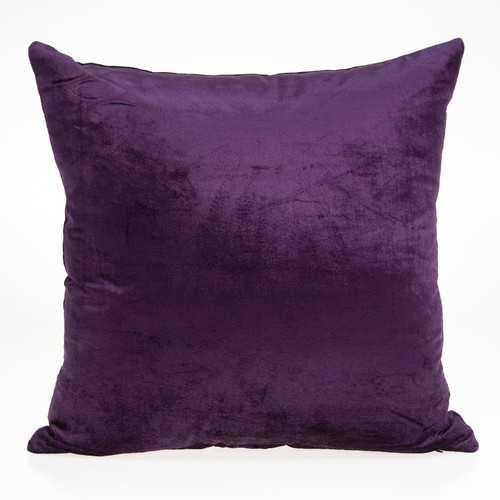 "18"" x 7"" x 18"" Transitional Purple Solid Pillow Cover With Poly Insert - 100% Authentic Luxury Men's & Women's Fragrances, Cosmetics & Pillows"