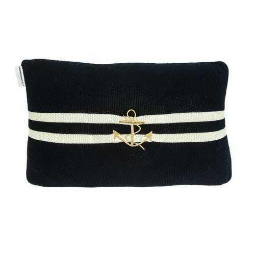 Black and Gold Anchor Decorative Pillow - 100% Authentic Luxury Men's & Women's Fragrances, Cosmetics & Pillows
