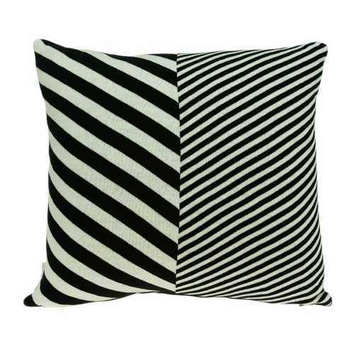 "18"" x 5"" x 18"" Transitional White & Black Pillow Cover With Poly Insert - 100% Authentic Luxury Men's & Women's Fragrances, Cosmetics & Pillows"