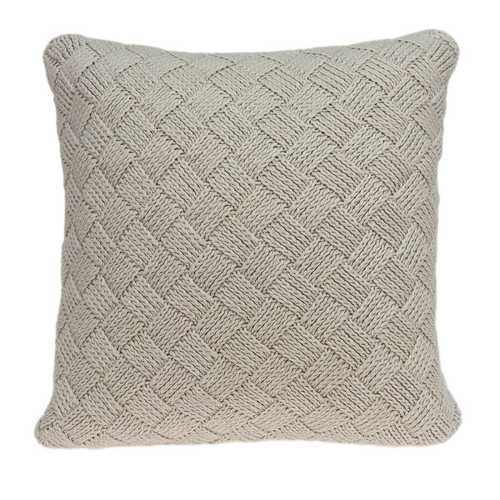 "20"" x 7"" x 20"" Charming Transitional Beige Accent Pillow Cover With Poly Insert - 100% Authentic Luxury Men's & Women's Fragrances, Cosmetics & Pillows"