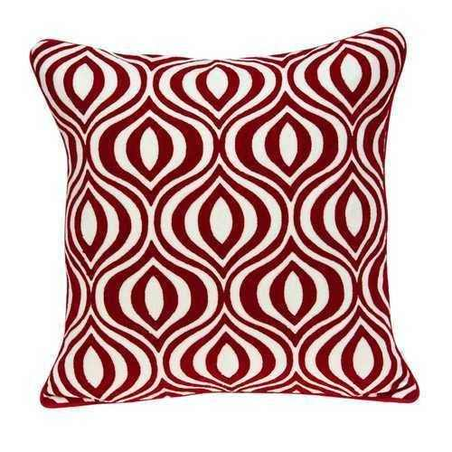 "20"" x 7"" x 20"" Transitional Red and White Pillow Cover With Poly Insert - 100% Authentic Luxury Men's & Women's Fragrances, Cosmetics & Pillows"