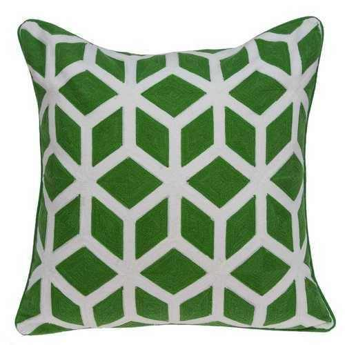 "20"" x 7"" x 20"" Transitional Green and White Pillow Cover With Poly Insert - 100% Authentic Luxury Men's & Women's Fragrances, Cosmetics & Pillows"