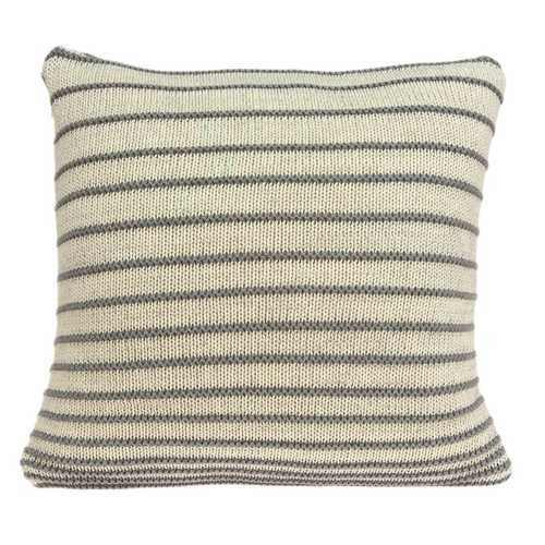 "20"" x 7"" x 20"" Transitional Striped Tan Pillow Cover With Down Insert - 100% Authentic Luxury Men's & Women's Fragrances, Cosmetics & Pillows"