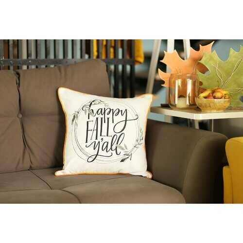 "Set of 4 18"" Thanksgiving Quote Throw Pillow Cover in Multicolor - 100% Authentic Luxury Men's & Women's Fragrances, Cosmetics & Pillows"