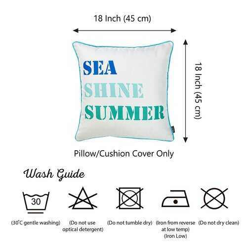 "Set of 4 18"" Sea Shine Summer Throw Pillow Cover in Multicolor - 100% Authentic Luxury Men's & Women's Fragrances, Cosmetics & Pillows"