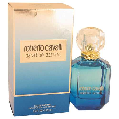 Roberto Cavalli Paradiso Azzurro by Roberto Cavalli Eau De Parfum Spray 2.5 oz (Women) - 100% Authentic Luxury Men's & Women's Fragrances, Cosmetics & Pillows
