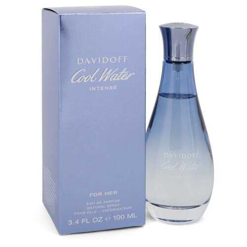 Cool Water Intense by Davidoff Eau De Parfum Spray 3.4 oz (Women) - 100% Authentic Luxury Men's & Women's Fragrances, Cosmetics & Pillows