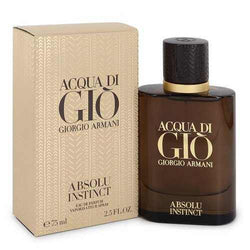 Acqua Di Gio Absolu Instinct by Giorgio Armani Eau De Parfum Spray 2.5 oz (Men) - 100% Authentic Luxury Men's & Women's Fragrances, Cosmetics & Pillows