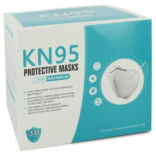 KN95 Mask by KN95 Thirty (30) KN95 Masks Adjustable Nose Clip Soft non-woven fabric FDA and CE Approved (Unisex) 1 size (Women) - 100% Authentic Luxury Men's & Women's Fragrances & Cosmetics