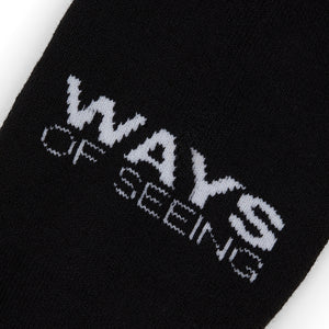 Official PAQ merch.  Ways Of Seeing - Collection 1, limited edition. W.O.S. Black Crew Socks.