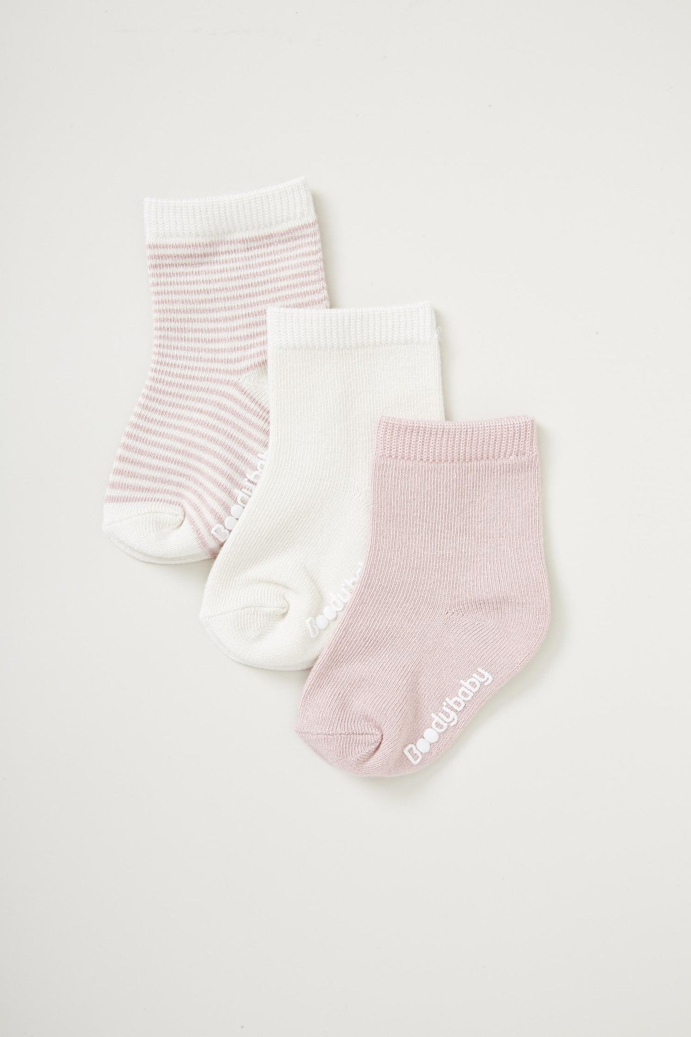 Boody Baby Socks 3pr Chalk Rose 12 24mth – Gilmours Havelock North