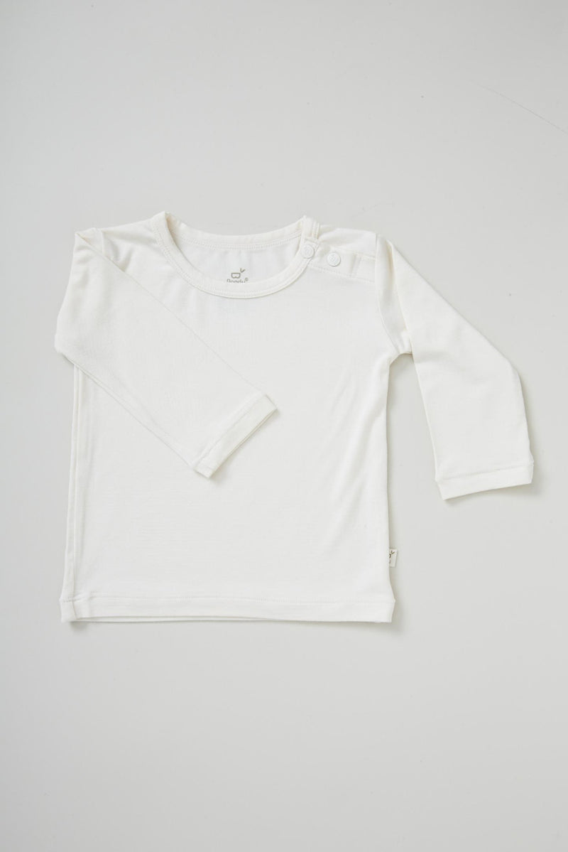 Boody Baby L/S Top Chalk 6-12