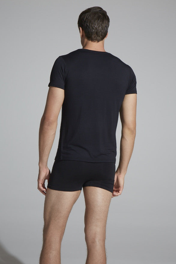 Boody Men's T Crew Neck Blk Med