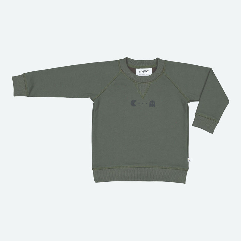 Mello Mini Crew Sweater Olive 6-12mths