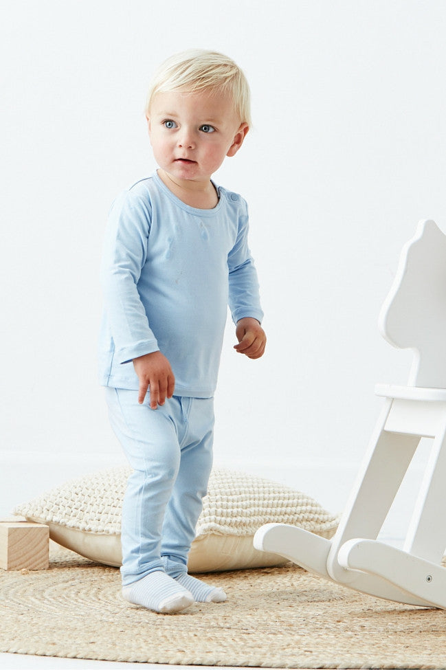 Boody Baby Pull On Pant Chalk 6-12mth
