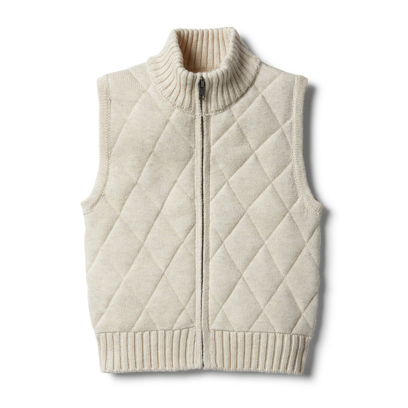 W&F Oatmeal Knitted Vest 0-3mth