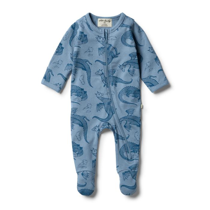 W&F Organic little Dragon Zipsuit 0-3mth