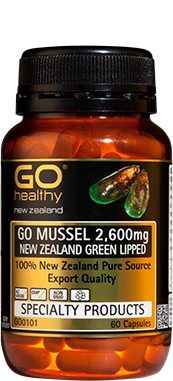 GO Mussel 2600 NZ Green Lip. 60Cap