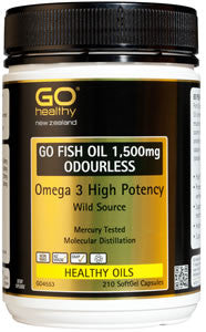GO Fish Oil 1500mg Odourless 210cap