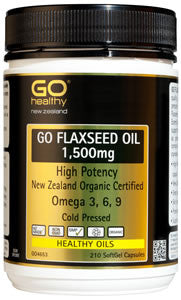 GO Flaxseed Oil 1500mg Org. 210cp