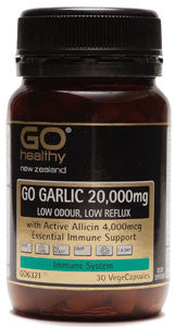 GO Garlic 20,000mg Low Odour 30 Vcap