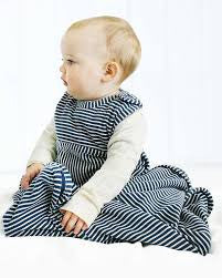 Go Go Bag Merino Toddler Std - Navy Stripe 2-4yrs