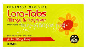 LORA-TABS Allergy & H/Fever 10mg 90